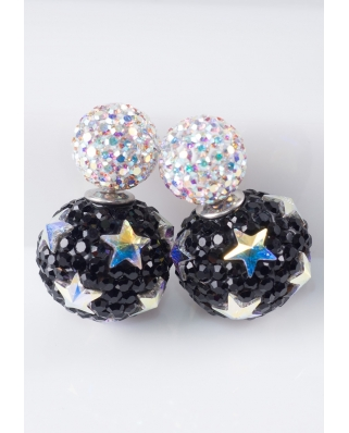 Star Crystal Earrings / CE421-06
