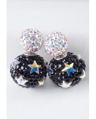 Star Crystal Earrings / CE421-06
