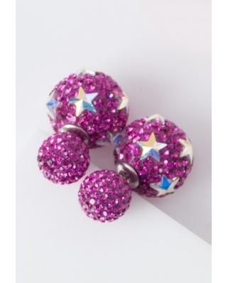 Star Crystal Earrings / CE421-12