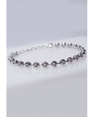 Silver bracelet Moon Cut 5mm / CYB011S