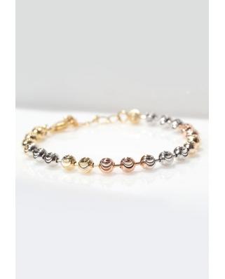 Silver bracelet Moon Cut / CYB011SRG