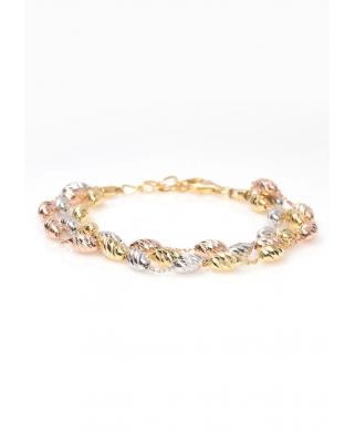 Tri color Vermeil Silver bracelet / CYB012SRG