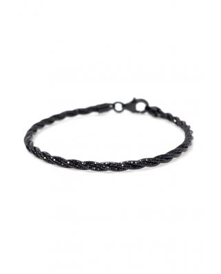 Silver bracelet twist 3 lines / CYB009B