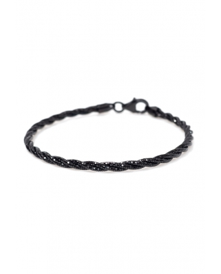 Ruthenium Vermeil bracelet twist 3 lines / CYB009B