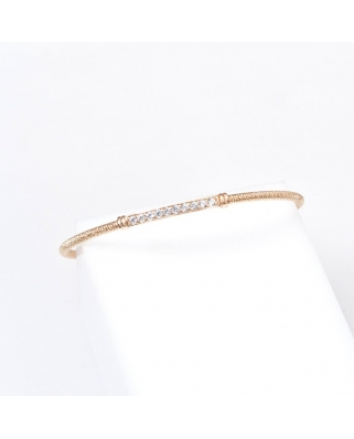 Gold Plated Sterling Silver Bangle