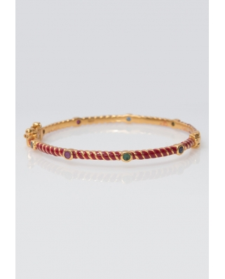 Gold Vermeil Bangle/ AQB012