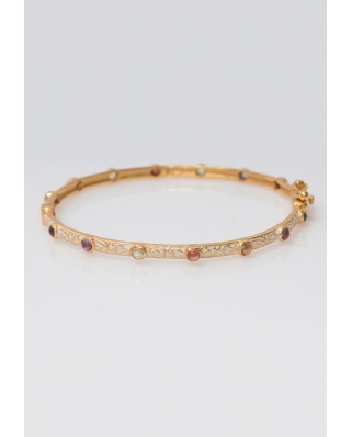 Gold Vermeil Bangle/ AQB013