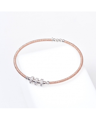 Rose Gold Vermeil Sterling Silver Bangle