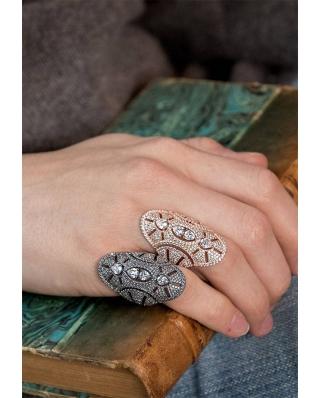 純銀鋯石戒指