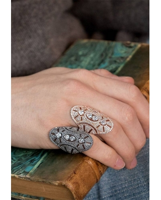 Silver with CZ Ring / R17854OX