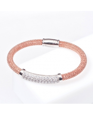 Rose Gold Vermeil Sterling Silver Bangle Magnetic Clip
