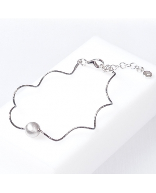 Black Plated Sterling Silver Bracelet