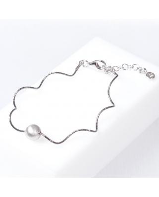 Black Plated Sterling Silver Bracelet