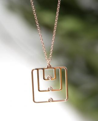 18k鑽石頸鍊