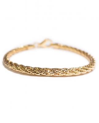 Gold Vermeil Twist 5 lines bracelet / CYB001G / Omega