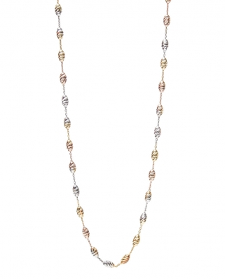 Tycoon Tri color Vermeil Necklace