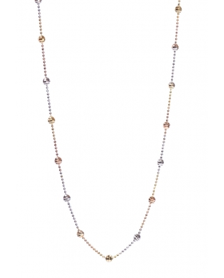 Disco Ball Tri color Vermeil Necklace