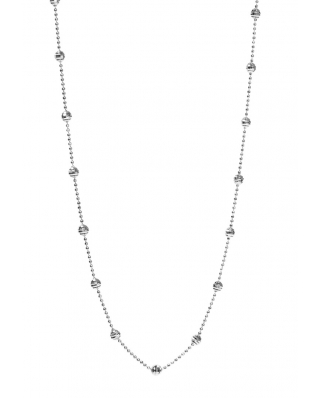 Disco Ball Silver Necklace