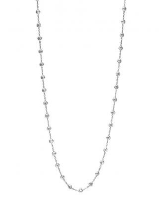 Moon Cut Silver Necklace