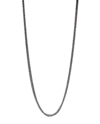 Ruthenium Vermeil Necklace 5 lines ( black plated ) / CYN011B5