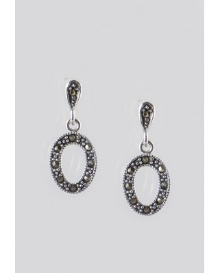 Oval Sterling Silver Earring