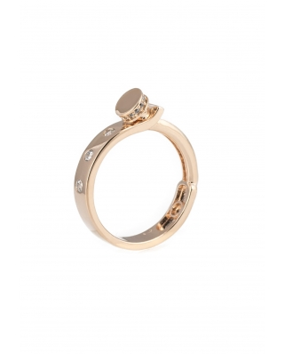 LOVE Rose Gold Vermeil Ring
