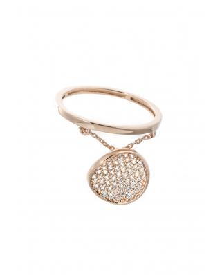 LOVE Rose Gold Vermeil Ring