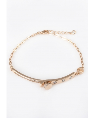 LOVE Rose Gold Vermeil Bracelet