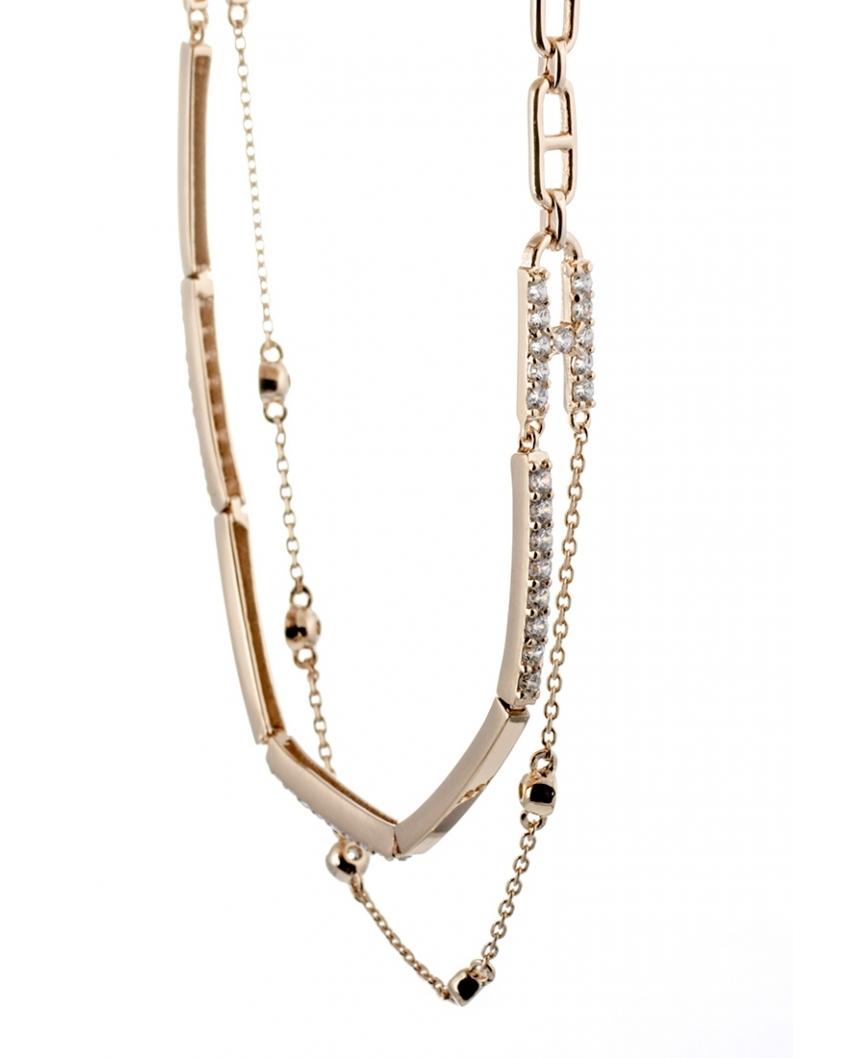 LOVE Rose Gold Vermeil Bracelet