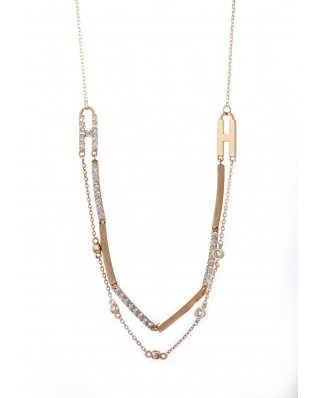 LOVE Rose Gold Vermeil Necklace