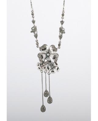 復古風格純銀項鍊