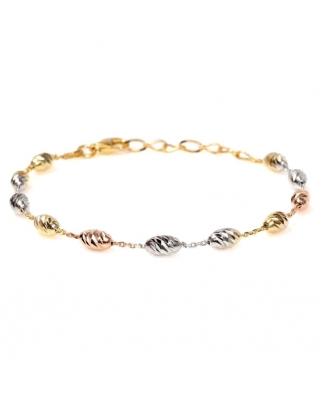 Tri color Vermeil Silver bracelet / CYB013SRG