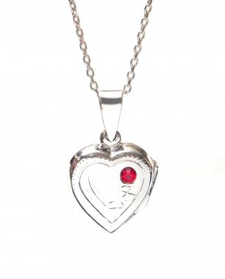 Locket Heart Sterling Silver Pendant 10 x 15mm