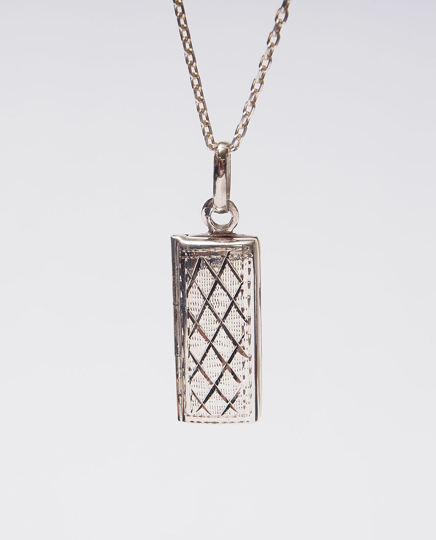 Aromatherapy Essential Oil Diffuser Sterling Silver Pendant 8 X 10mm