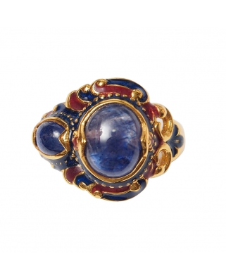Gold Vermeil Ring with Sapphire