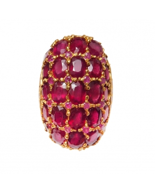 Gold Vermeil Ring with India Ruby
