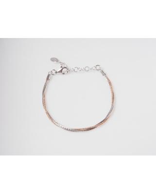 3 Lines Rose Gold Vermeil Bracelet