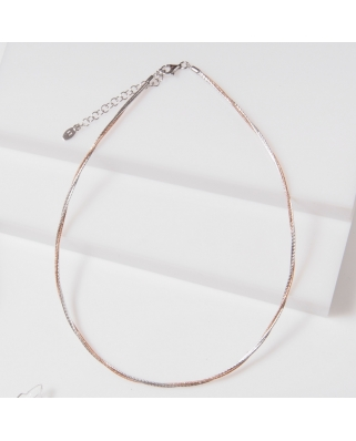 3 Lines Rose Gold Vermeil Necklace