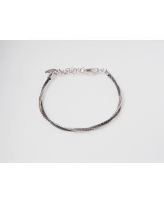 3 Lines Black Vermeil Bracelet