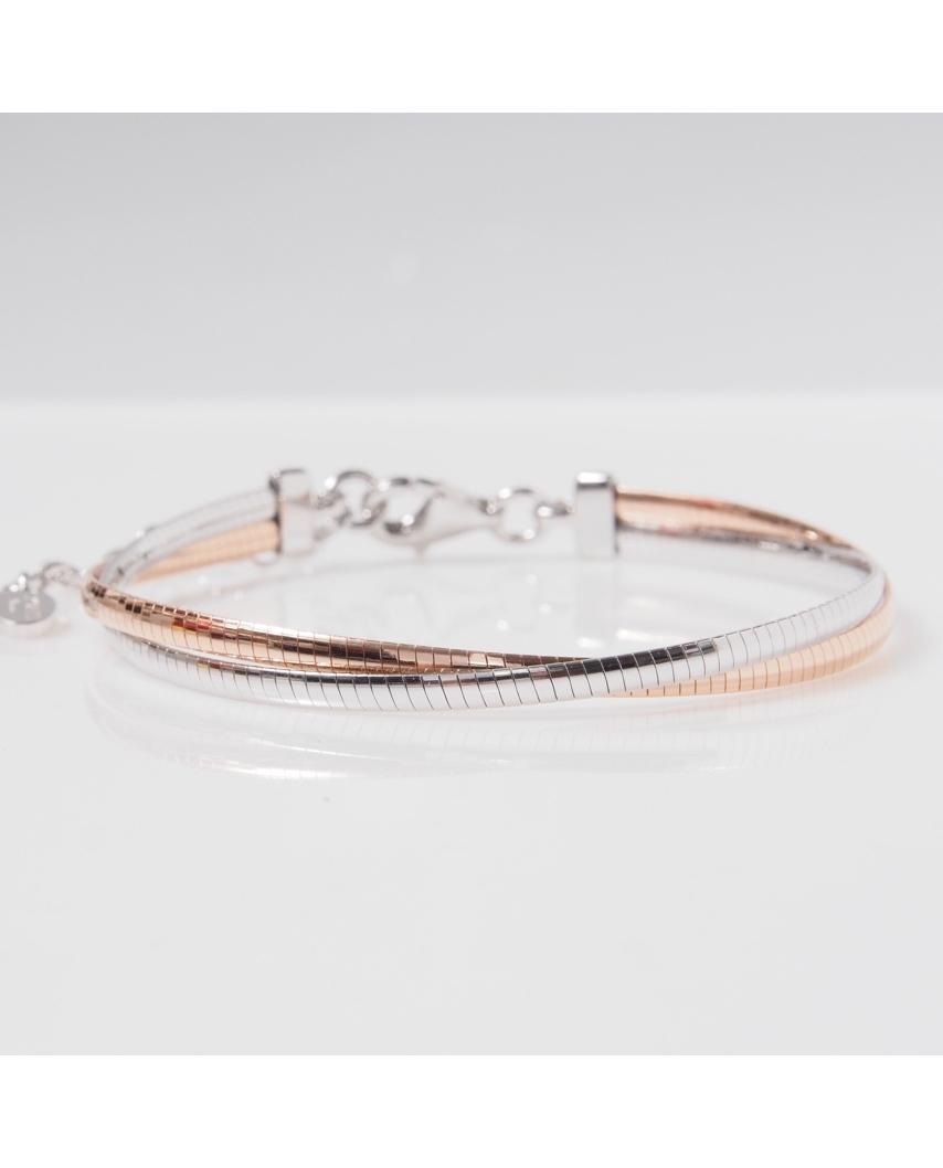 2 Lines Rose Gold Vermeil Bracelet