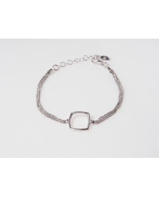 Square Silver Bracelet
