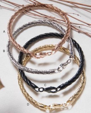 Vermeil Twist 5 lines bracelet