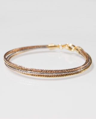 Tri-Color Vermeil bracelet / CYB021