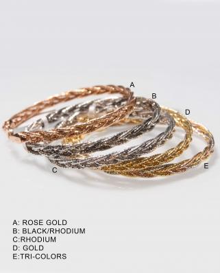 Vermeil bracelet twist mesh / CYB010