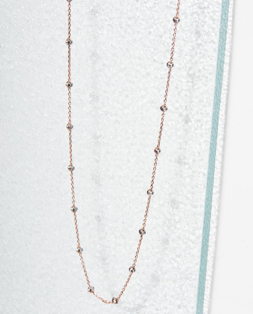 Moon Cut Rose Gold Vermeil Necklace