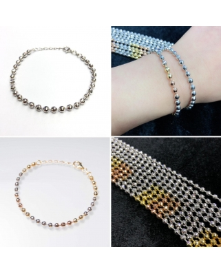 Disco Ball 4mm Vermeil bracelet / CYB024