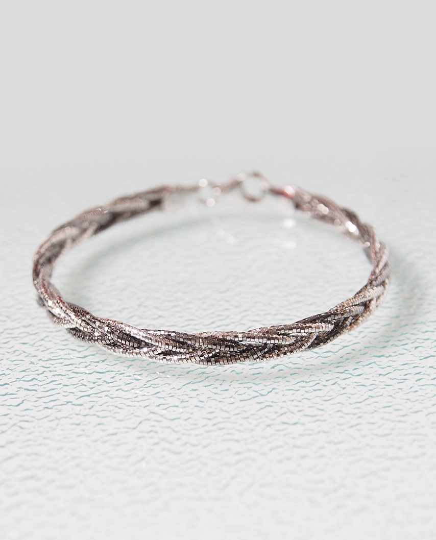 Tri-Color Vermeil bracelet twist mesh / CYB010