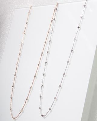 3mm Moon Cut Rose Gold Vermeil Necklace