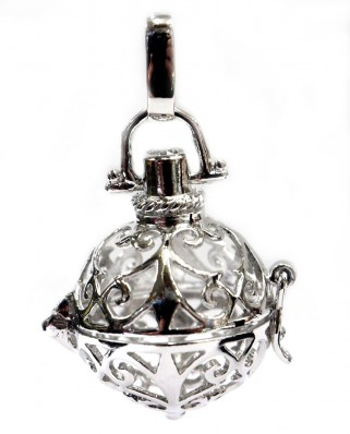 Aromatherapy Essential Oil Diffuser Sterling Silver Pendant