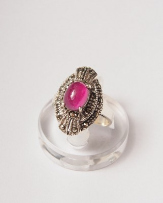 925 Silver Ring / R-022 RED RUBY
